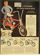 1970s Sears Bicycle Page Ad 16 20 Inch Spyder Screamer Banana Seat Bikes