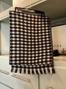 J Crew Wool Wrap One Size Houndstooth W Reversable Plaid