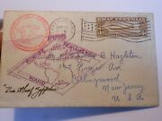 Rare Usa 1930 Pan American Graf Zepellin Cover To New Jersey