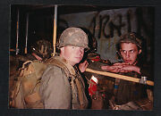 Vintage Photograph Military Men In Uniforms Wearing Helmets - Soldiers