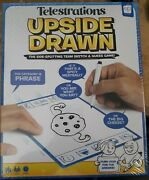 Telestrations Upside Drawn The Side-splitting Team Sketch And Guess Game