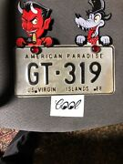 Hot Rod Red Devil + Hot Rod Wolf License Plate Toppers Metal Mechanical C@@l