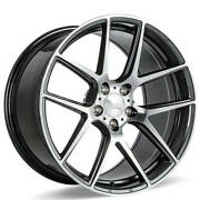 4 20 Ace Alloy Wheels Aff02 Grey With Machined Face Rimsb45