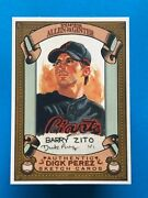 2007 Topps Allen And Ginter Dick Perez Sketch Cards 25 Barry Zito