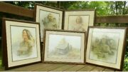Rare Pictures Marked Down Collection Of 5 Ben Hampton Prints-1 Nancyward Proof.