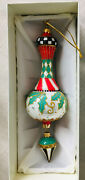 New In Box Mackenzie-childs 9 Holly Drop Deck The Halls Ornament