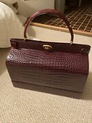 Hermandegraves 1960andrsquos Italian Aligator Purse With Hidden Jewelry Compartment