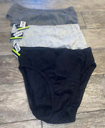 New 5 Pack Wings Love Womens Cotton Underwear Size 9 Gray Black