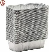 50-pack Disposable 8.5x4.5 Aluminum Foil Baking Tray Bbq Drip Pan Tin Liners