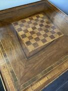 Vintage Inlaid Wood Game Table Made In Italy - Denver Local Pickup Only- Inlay