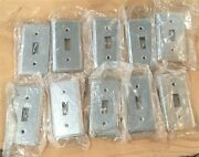 Lot Of 10 - Mulberry 10004 / Ut / 58c30 M2/141 Toggle Switch Plate -galv Steel