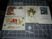 Lot Of 4 Antique Vintage New Years Postcards Birds