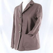 Limited Jil Sander 1400 Brown Casual 3-button Womenand039s Blazer Jacket Coat - Nwt