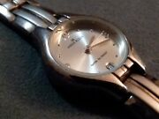 Vintage ☆all Stainless☆ Ann Kline Ladies Watch Link Style Buy Now Free Shipping