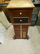 Antique Vintage 15 Drawer Cabinet Printers Type Letterpress Crafters Sewing