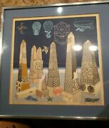 Very Rare 1980and039s Pedro Friedeberg Serigraphy Limited Edition Handsigned