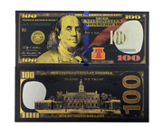 Black Gold Silver Banknote Coins Paper President Federal Reserve Money Coin Bill