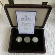 2011 The Princess Diana 50th Birthday 3 Coin Set - William And Harry - Uk Canada