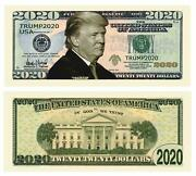 25 Donald Trump 2020 For President Re Election Campaign Dollar Bill Collectible