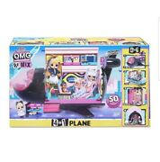 Lol Surprise Omg Remix 4-in-1 Plane Playset Transforms With 50 Surprises Jet