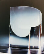 New In Box Steuben Heart Art Glass Perfect Crystal Love U Rare Gift Paperweight