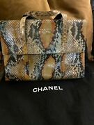 Rare '1997-1999 Multi Color Snakeskin And Leather Flap Bag
