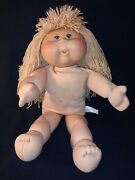 2004 Cabbage Patch Kids 18 Doll Long Yarn Hair Vinyl Face Cloth Body