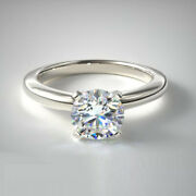 0.70 Carat New Real Diamond Engagement Rings Fine 950 Platinum Band Size 6 7 8 9