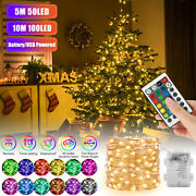 Fairy String Lights Led Christmas Tree Wedding Xmas Party Decor Outdoor Remote