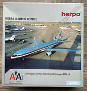 Herpa 1500 Mcdonnell Douglas Md-11 American Airlines - Rare Collectible, Mib
