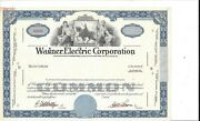 Wagner Electric Corporation.....abn Specimen Common Stock Certificate