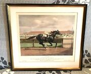 Vintage Antique After Martin Stainforth Equestrian Print Apache Jockey / Horse