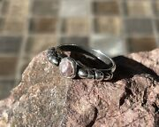 Sterling Silver Custom Ring With Rare Pink Natural Mississippi River Pearl