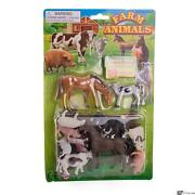 Hayes Farm Animal Toy Assortment Horses Pigs Dogs Fencing 20pc Play Set