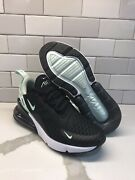 Nike Air Max 270 Running Shoes White/black/teal Ah6789-008 Womenand039s Size