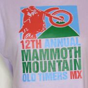 Vintage 1980s 80s Ladies 12th Annual Mammoth Mountain Motocross Size Large Shirt