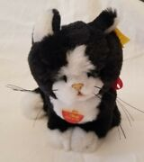 Steiff Tapsy Plush Cat Black And White With Original Tags Rm080