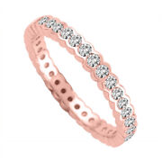 2.40 Ct Real Diamond Engagement Bridal Band 14k Solid Rose Gold Size 5.5 6 7 8.5