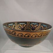Heygill Imports Magnificent Oriental Large Handpainted Bowl Asian Porcelain Bowl