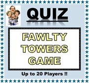 And039fawlty Towersand039 Pub Quiz Trivia Card Game Table Fun Families/friends/zoom