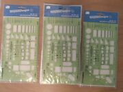 14 Lot Template Designs Drafting Template 1151 Architects Builders - 1/4 Scale