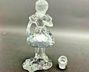 Crystal Figurine Little Red Riding Hood W/ Basket