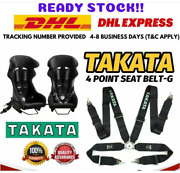 2x Takata 4 Point Snap-on 3 With Camlock Racing Seat Belt Harness Universal