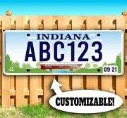 Customizable Indiana License Plate Advertising Vinyl Banner Flag Sign Usa