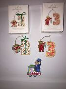Set Of 3 Hallmark Child's Age Collection Ornaments 2002 2010