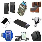 Accessories For Huawei Ascend P2 P2-6011 Sock Bag Case Sleeve Belt Clip Hols...