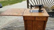 Antique Minnesota Model A Treadle Sewing Machine Early 1900and039s Cast Iron Gold