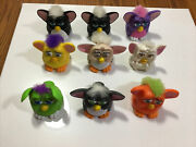 Furby Mcdonalds Happy Meal Toys - Lot Of 9 Vintage 1998 Furbies -see Details