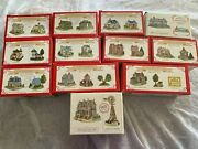 Huge Lot International Liberty Falls Collectible Villages Figurines House