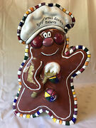 Blue Sky Clayworks 2003 Gingerbread Cookie Jar By Heather Goldminc Retired